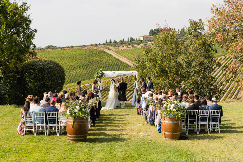 Alicia & James Tuscan winery wedding