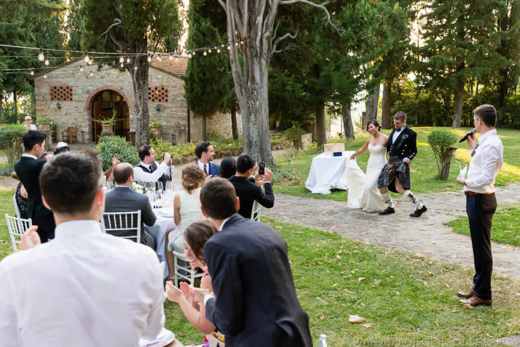 tuscan wedding reception