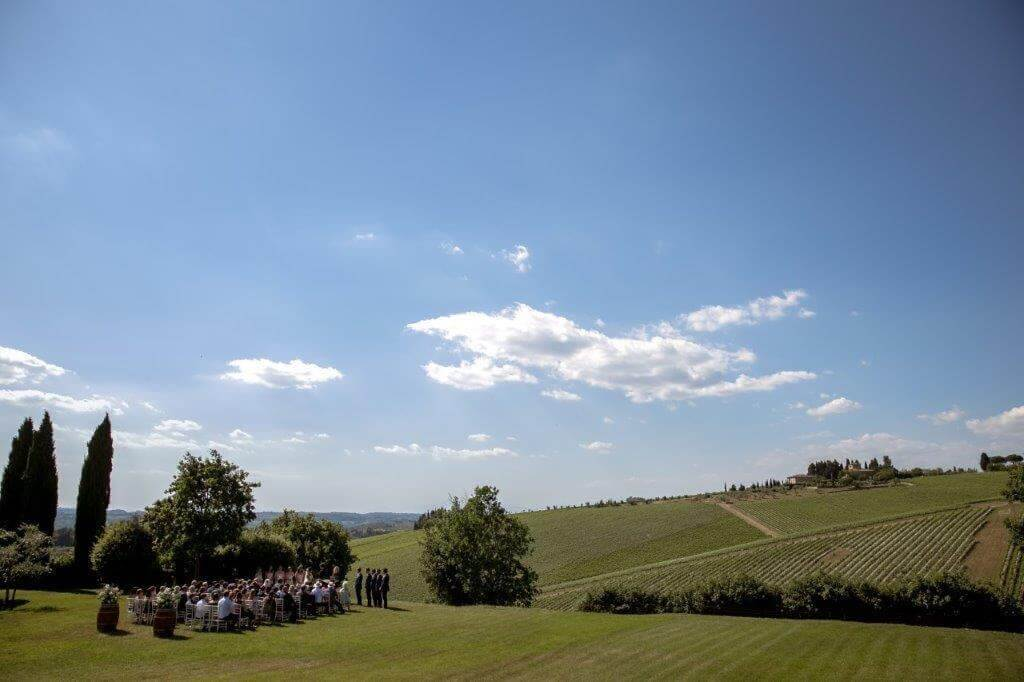 Caroline & Richard wedding in a tuscan winery