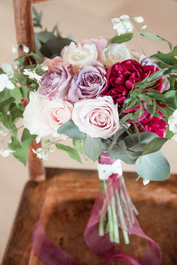 The bouquet of the bride