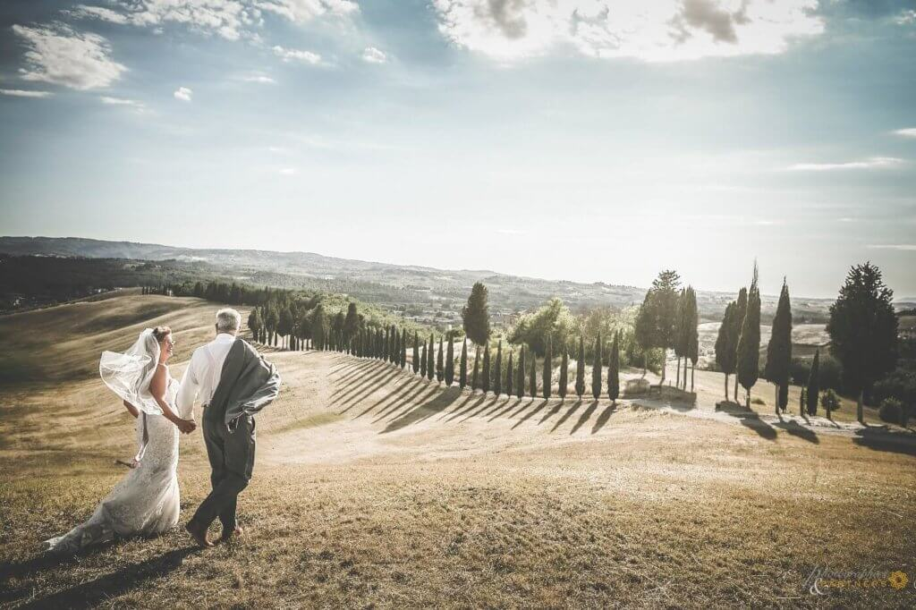 Carol & William enjoy a wonderful tuscany panorama