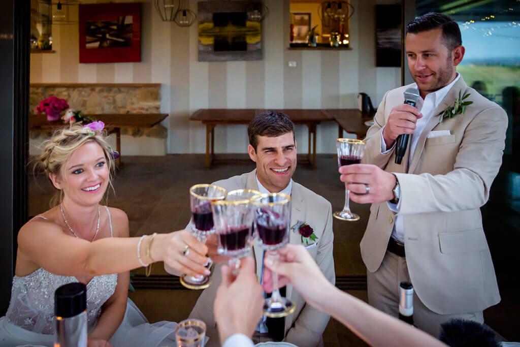 A toast to the marriage of Lauren & Ben