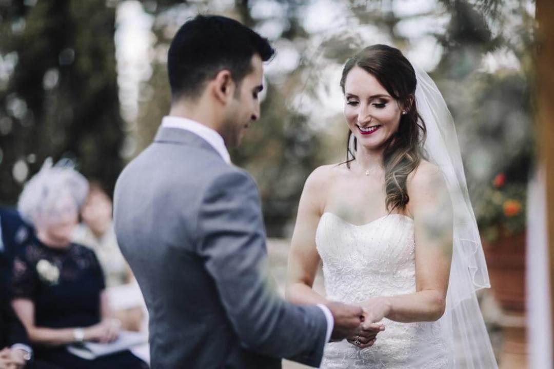 Jane & Aimun exchange their wedding rings