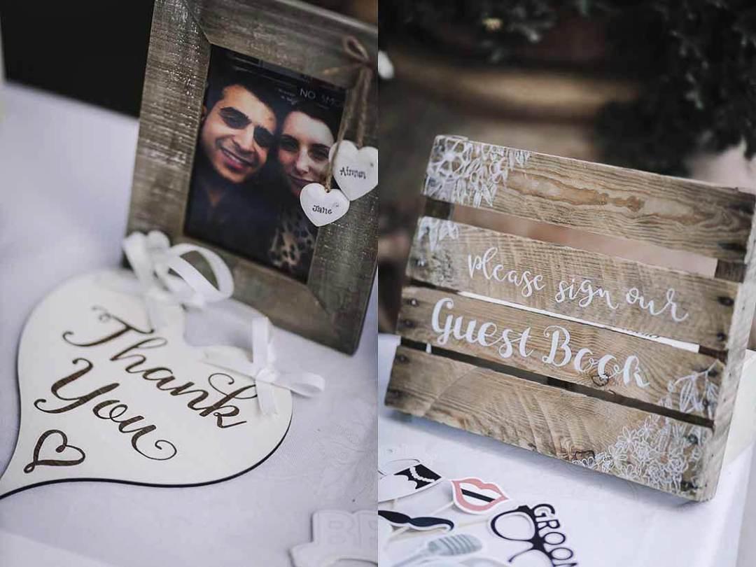 Jane & Aimun guest book wedding