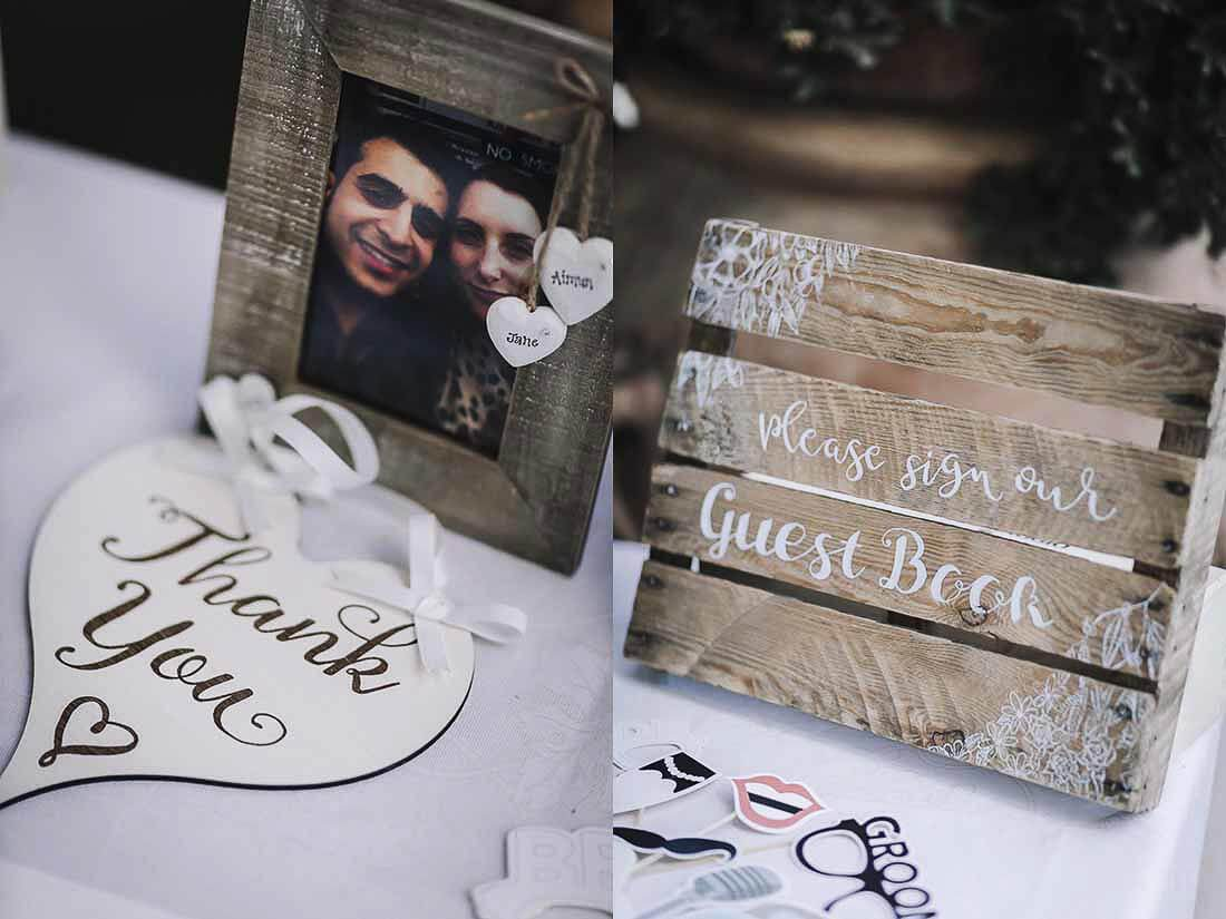 Jane & Aimun guest book wedding