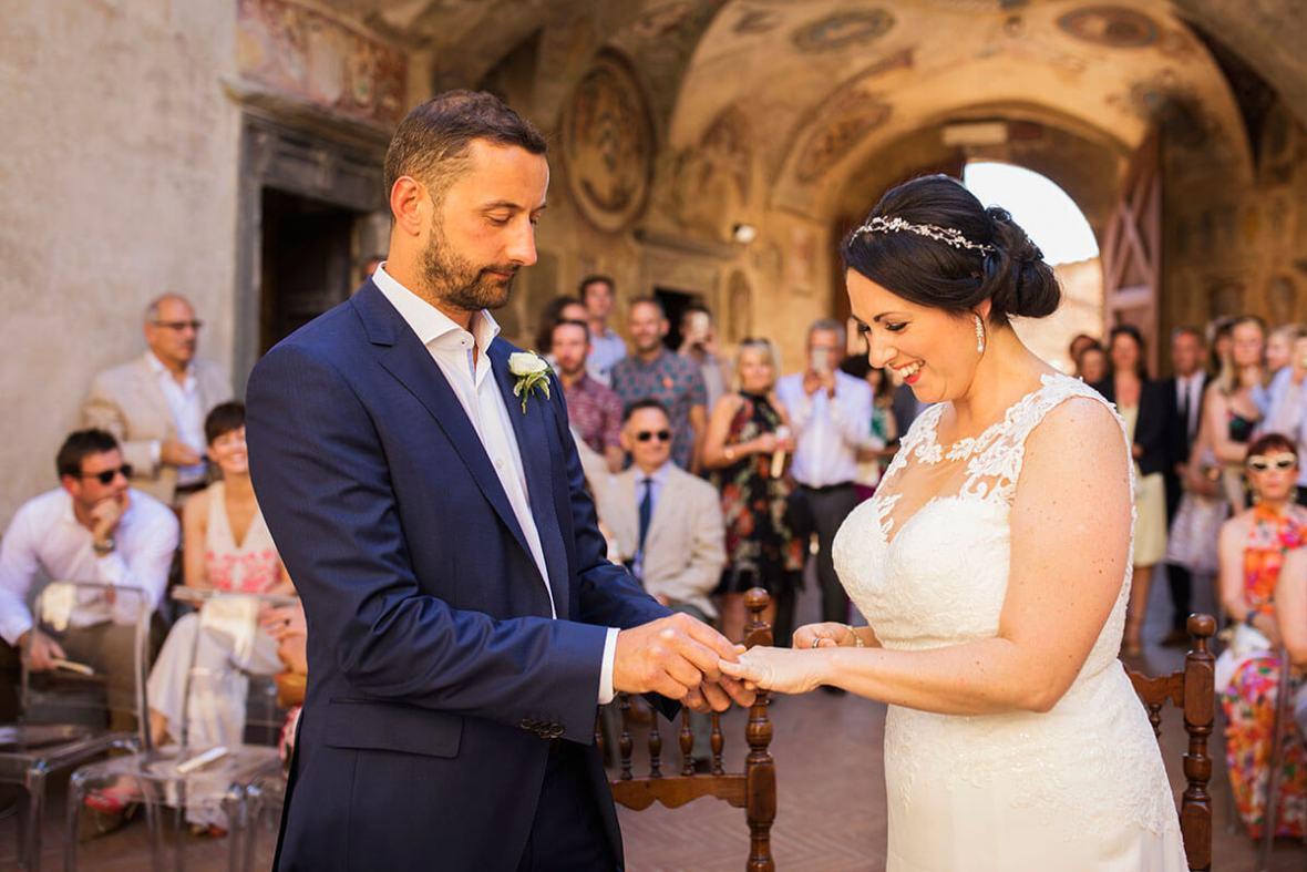 Anya & James exchange the wedding rings