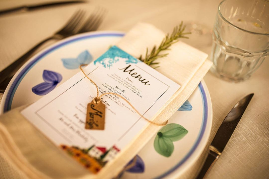 Anya & James chose a typical Tuscan Menu for wedding reception