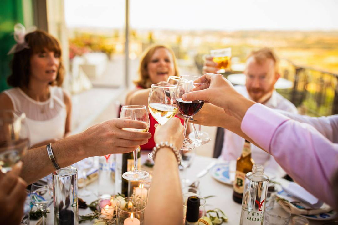 The guest toast to the marriage of Anya & James
