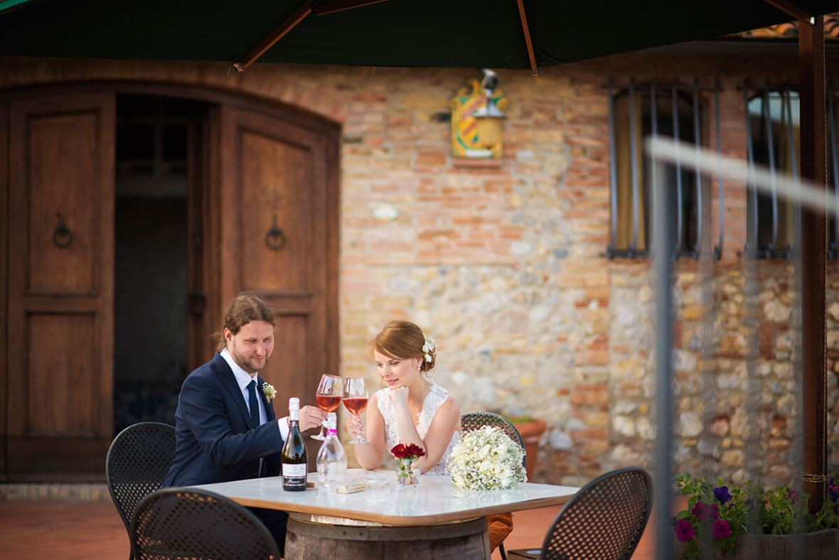 wine wedding in italy