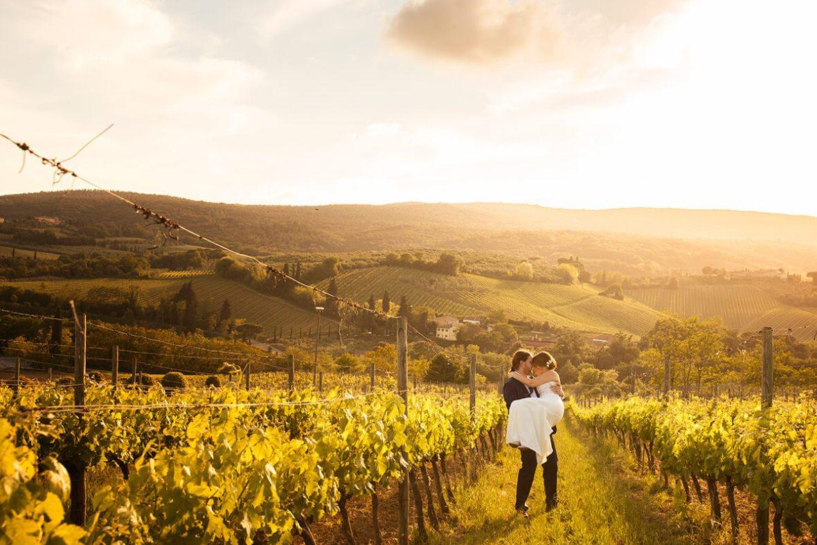 winery wedding in Tuscany
