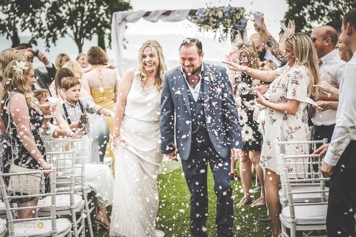 garden wedding in San Gimignano