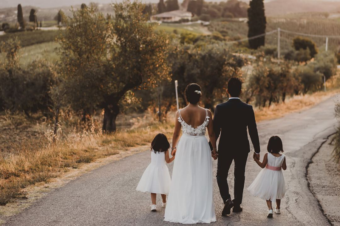 wedding in Italy with kids