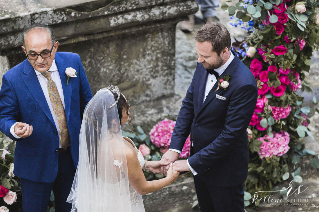 Sara and Christian wedding in a castle