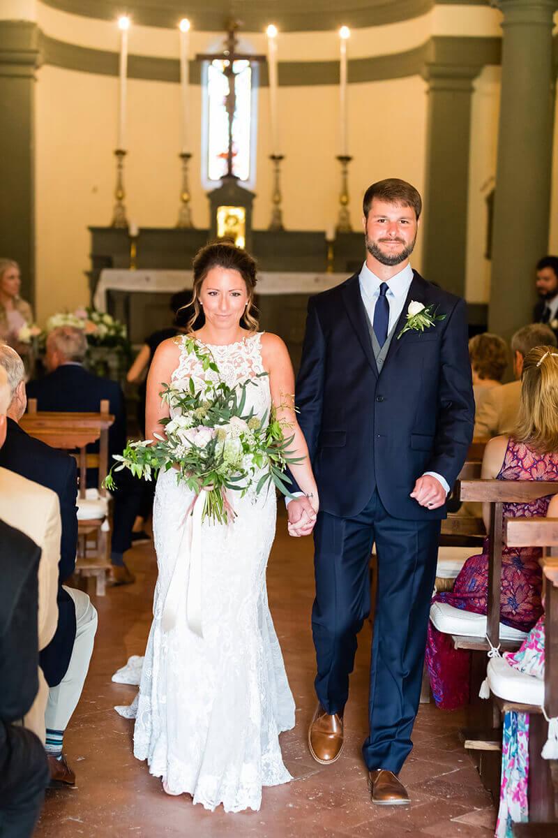 in tuscany wedding