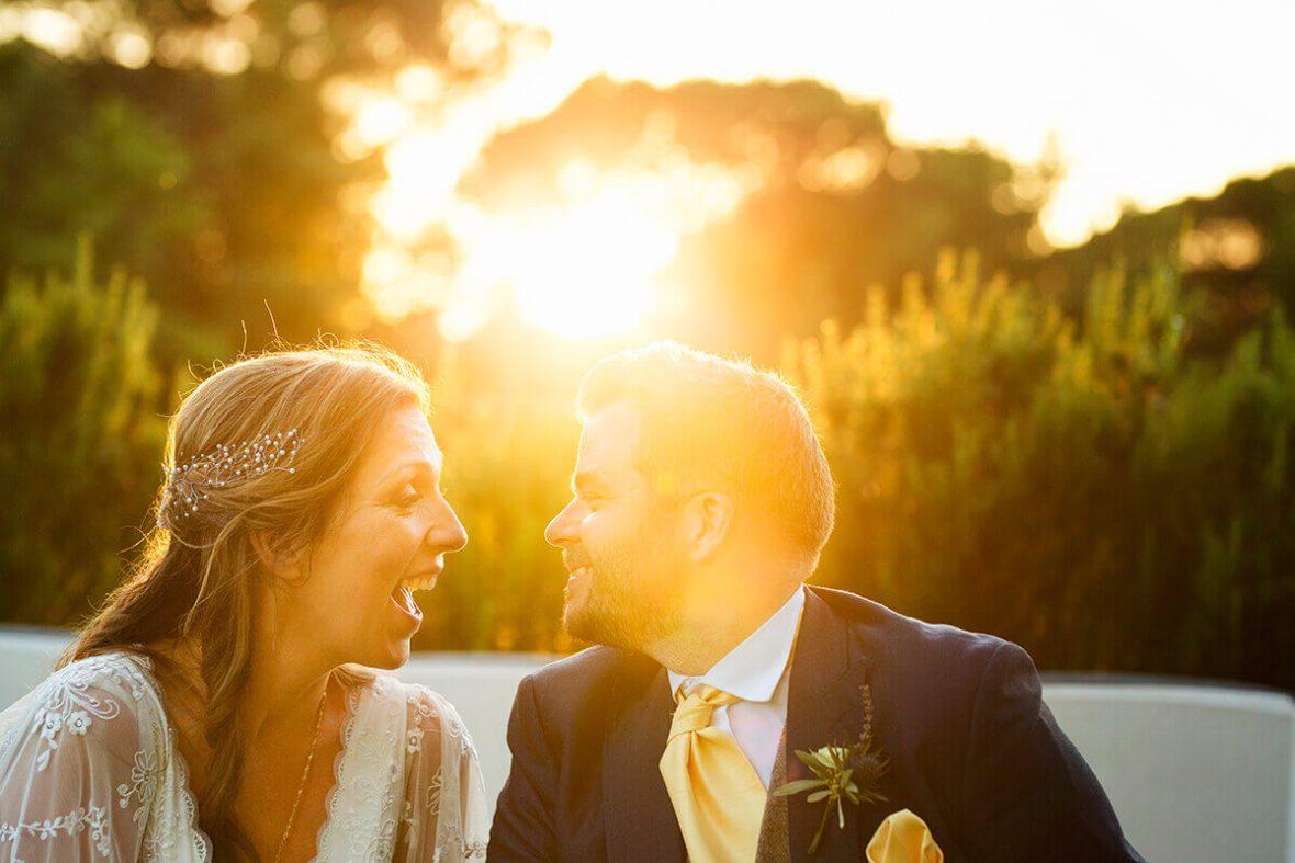 tuscan wedding ceremony in the garden