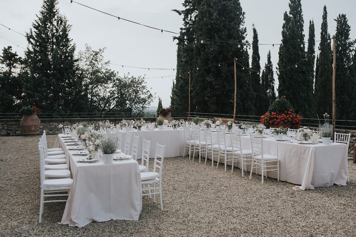 wedding reception in a Castle in Italy