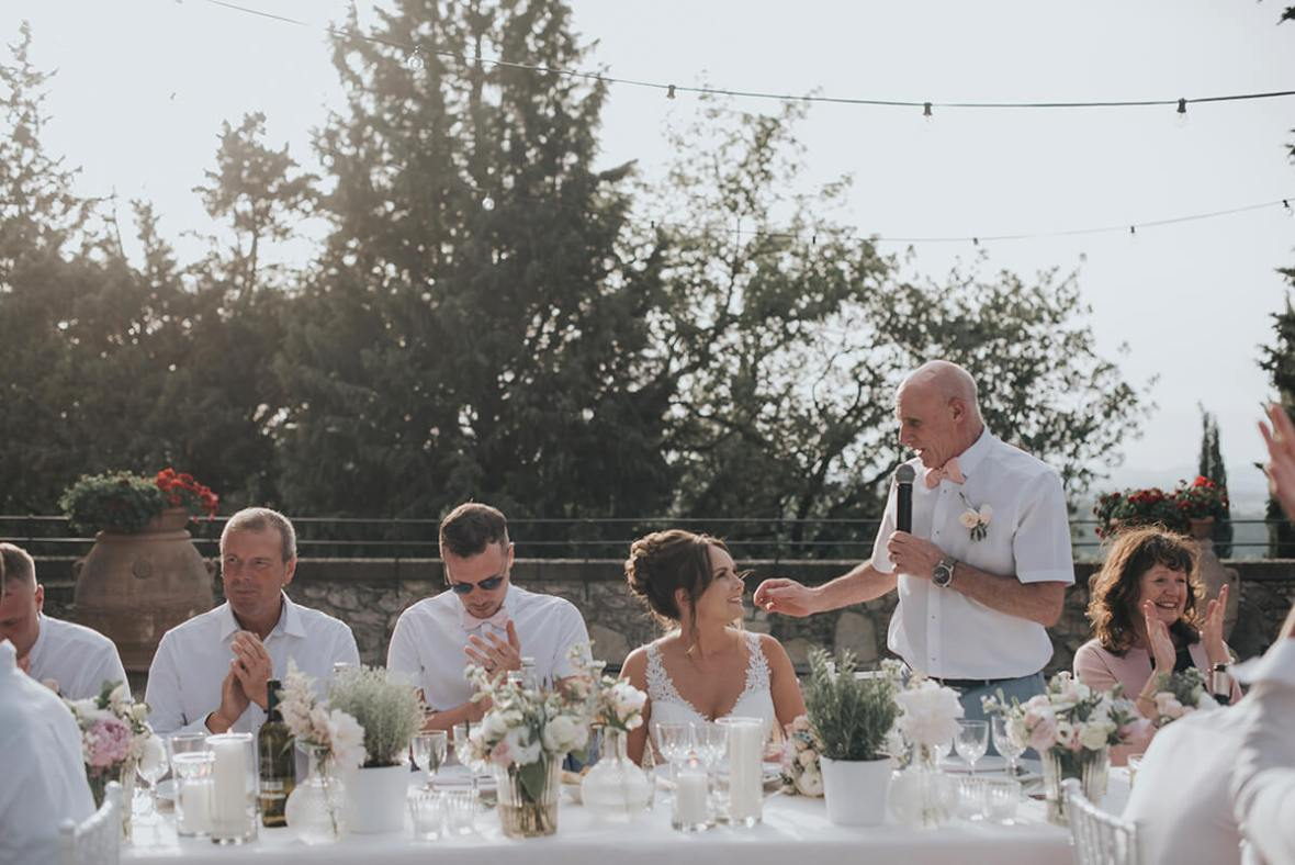 wedding reception in a Castle in Europe