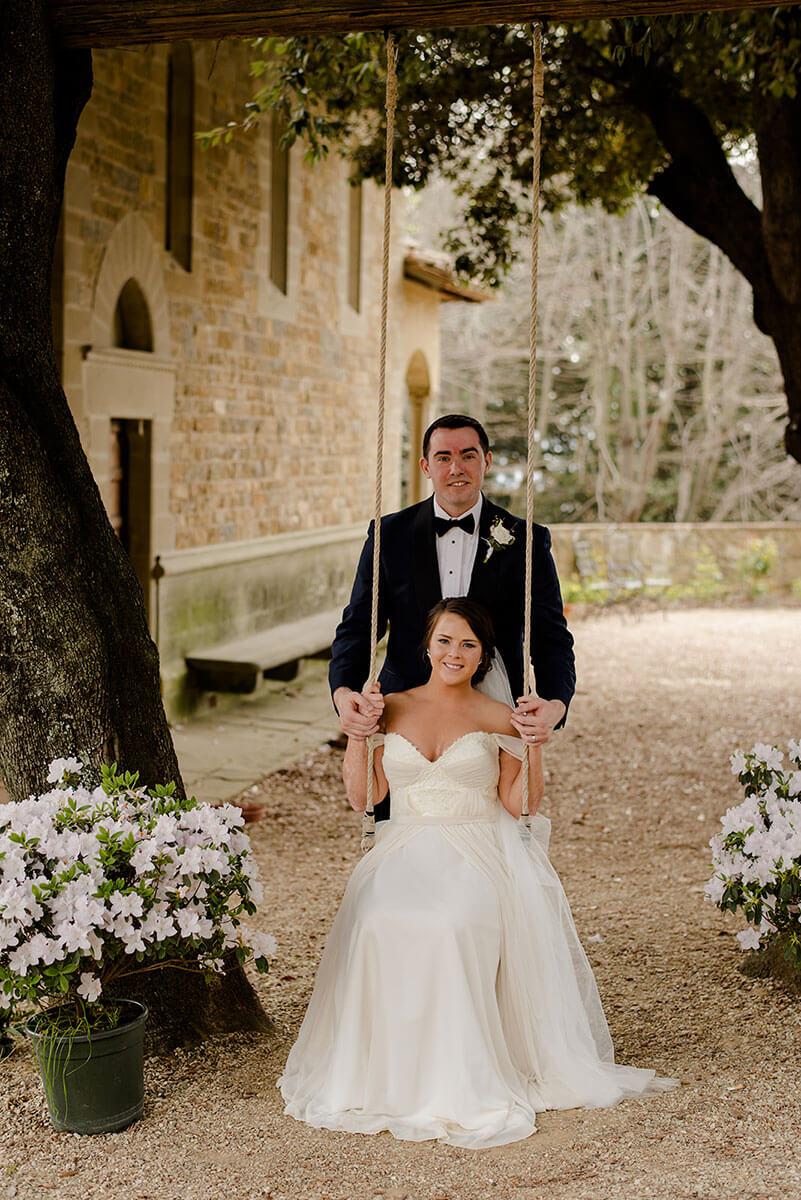 intimate wedding in an historical italian villa