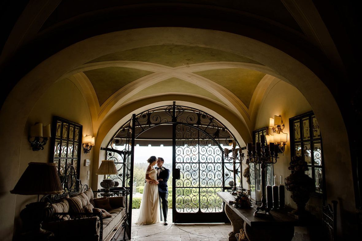 intimate wedding in the gardens of Villa Le Fontanelle