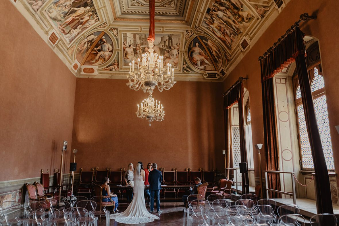 Civil ceremony in Siena