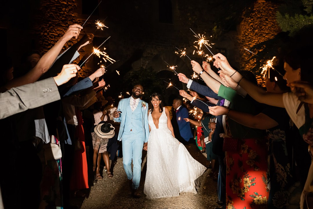 wedding reception in a Castle in Tuscany