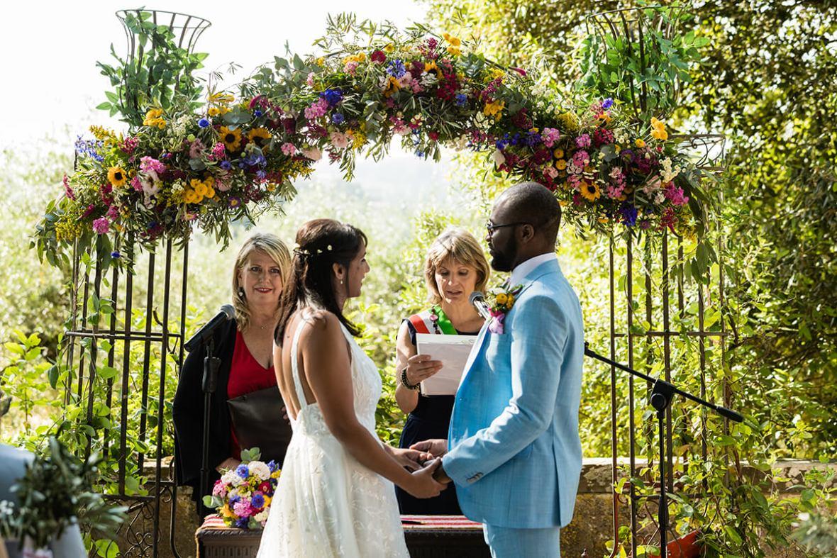 Civil ceremony in Tuscany