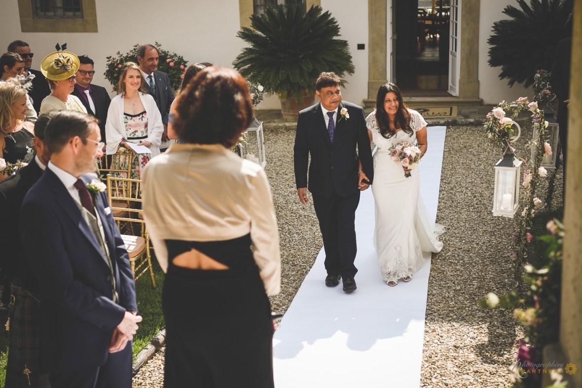 Ceremony at Country Resort Pratello