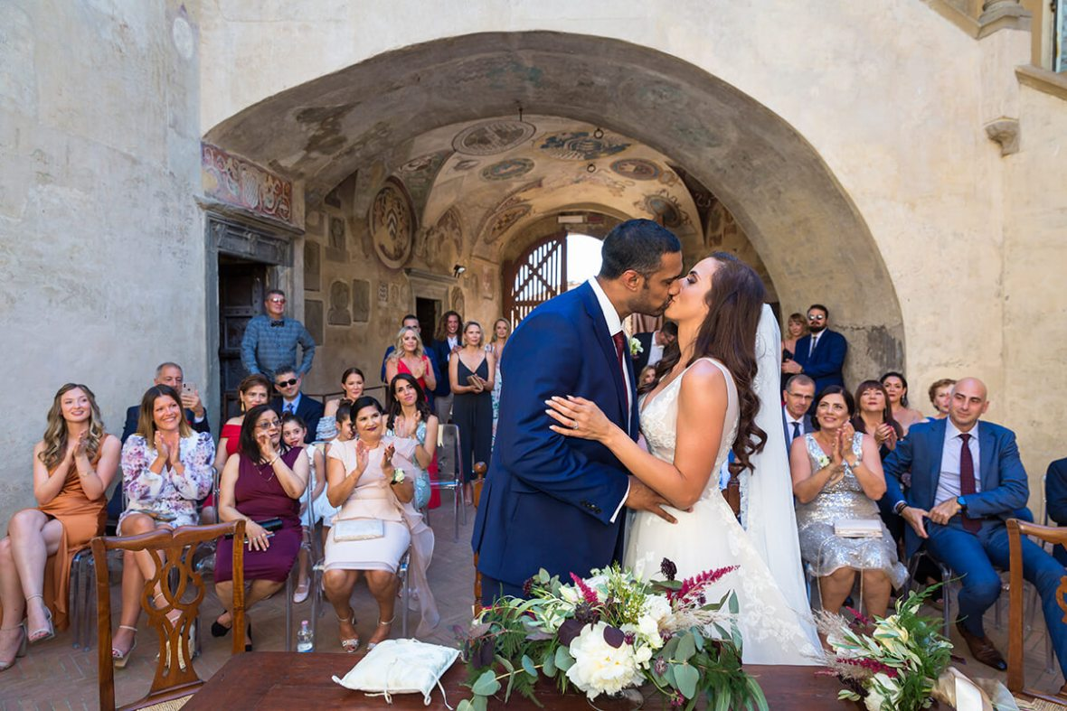 Ceremony in the courtyard at Certaldo