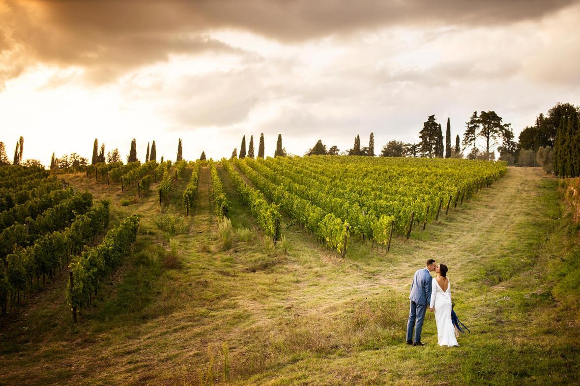 Wedding in the Chianti vineyards