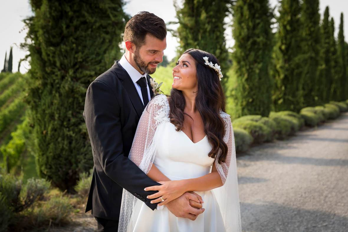 August wedding in Tuscany