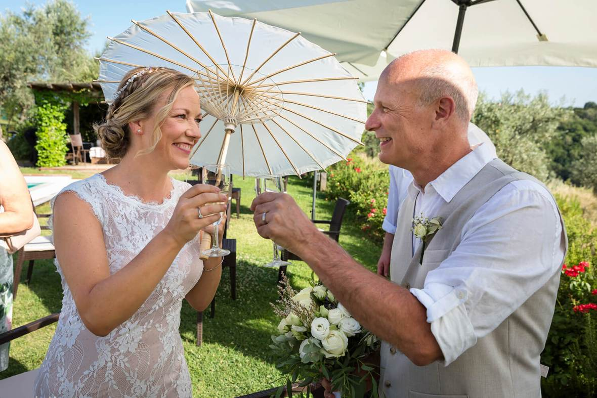 Tuscan farmhouse wedding
