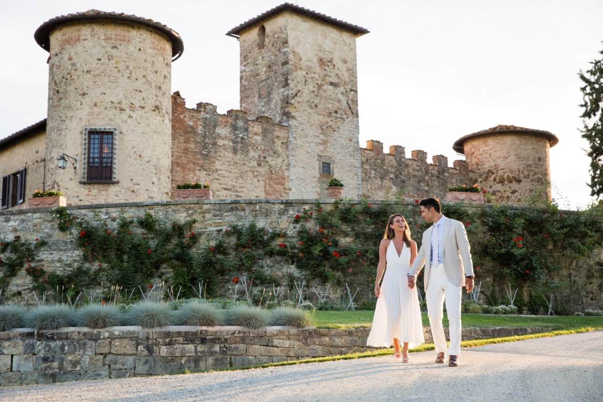 Castle winery wedding in Tuscany