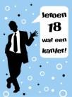 Kaartje verjaardagswensen 18 jaar