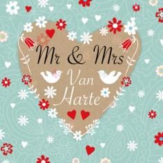 12,5 jaar huwelijkswensen kaart