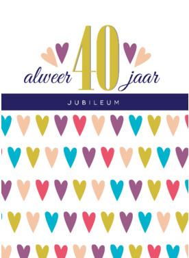 40 jaar getrouwd huwelijkswensen