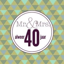 Huwelijkswensen 40 jaar