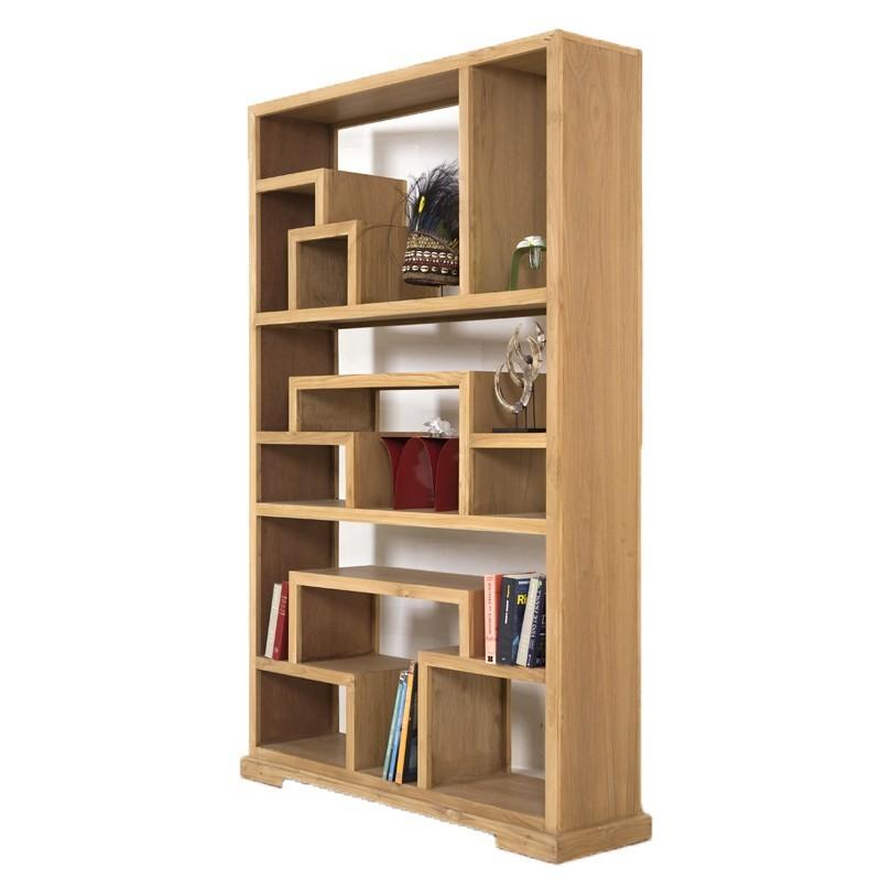 Bibliothque Dstructure ZEN En Bois De Teck