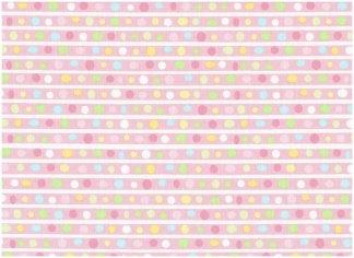 Farvede prikker på rosa