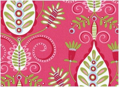 Blomstermønster på rosa