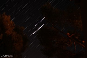 Lever des trois planètes Vénus, Jupiter, Mars et de nombreuses étoiles le 30/10/2015