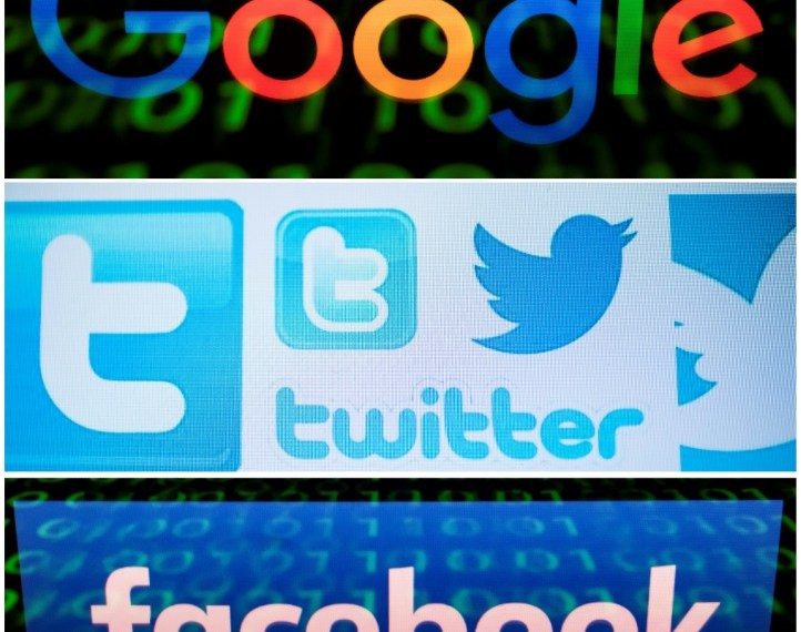 According to a Maru/Matchbox poll, 52 percent of Americans and 48 percent of Canadians said they find out what's happening in the world through social media platforms such as Facebook, Instagram and Twitter (AFP / Lionel BONAVENTURE, Nicolas ASFOURI)