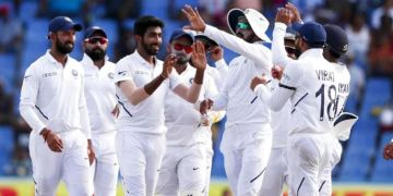 West Indies were chasing a stiff 419-run target but Indian pacers, led by Bumrah demolished the hosts, who were all out for just 100 in 26.5 overs in the final session of the fourth day.