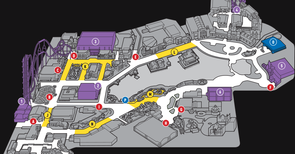 Halloween Horror Nights 25 Event Map