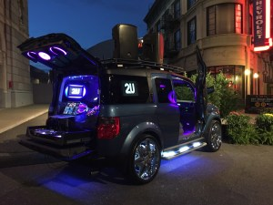 Completely custom Honda Element mobile DJ vehicle, the party is wherever this vehicle is at with full Mmat Audio.