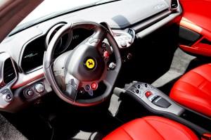 Ferrari exotic car interior red 458 italia