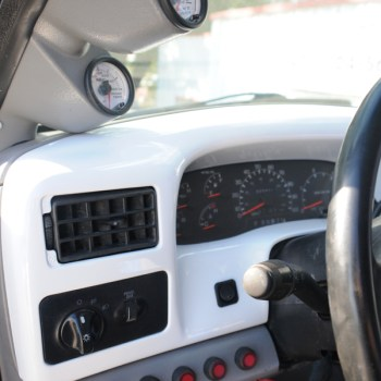 Painted super duty ford dash