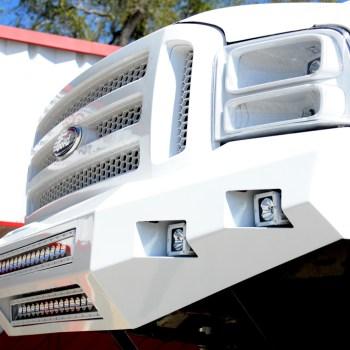 custom bumper rigid industries lights