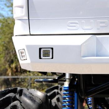 4 Radiance Pod lights installed in custom rear bumper