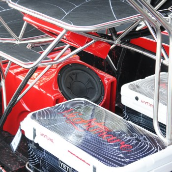 custom airboat subwoofer coolers