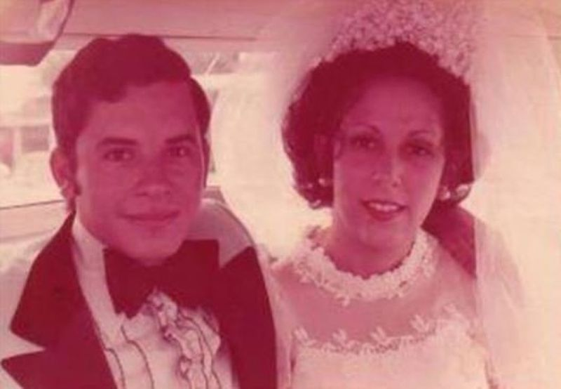 Oviedo couple, Ruben Merced and Sonia Goveo, celebrate their wedding day in 1973. The couple died of COVID-19 this month April 2020. - Original Credit: Goveo family - Original Source: Goveo family